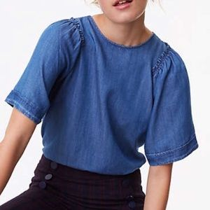 Loft Chambray Drama Queen Top
